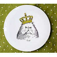Тарелка Кот в короне на Подарок