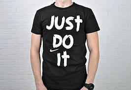 Размер S !!!! Футболка мужская  Nike Just Do It хлопок черная / найк