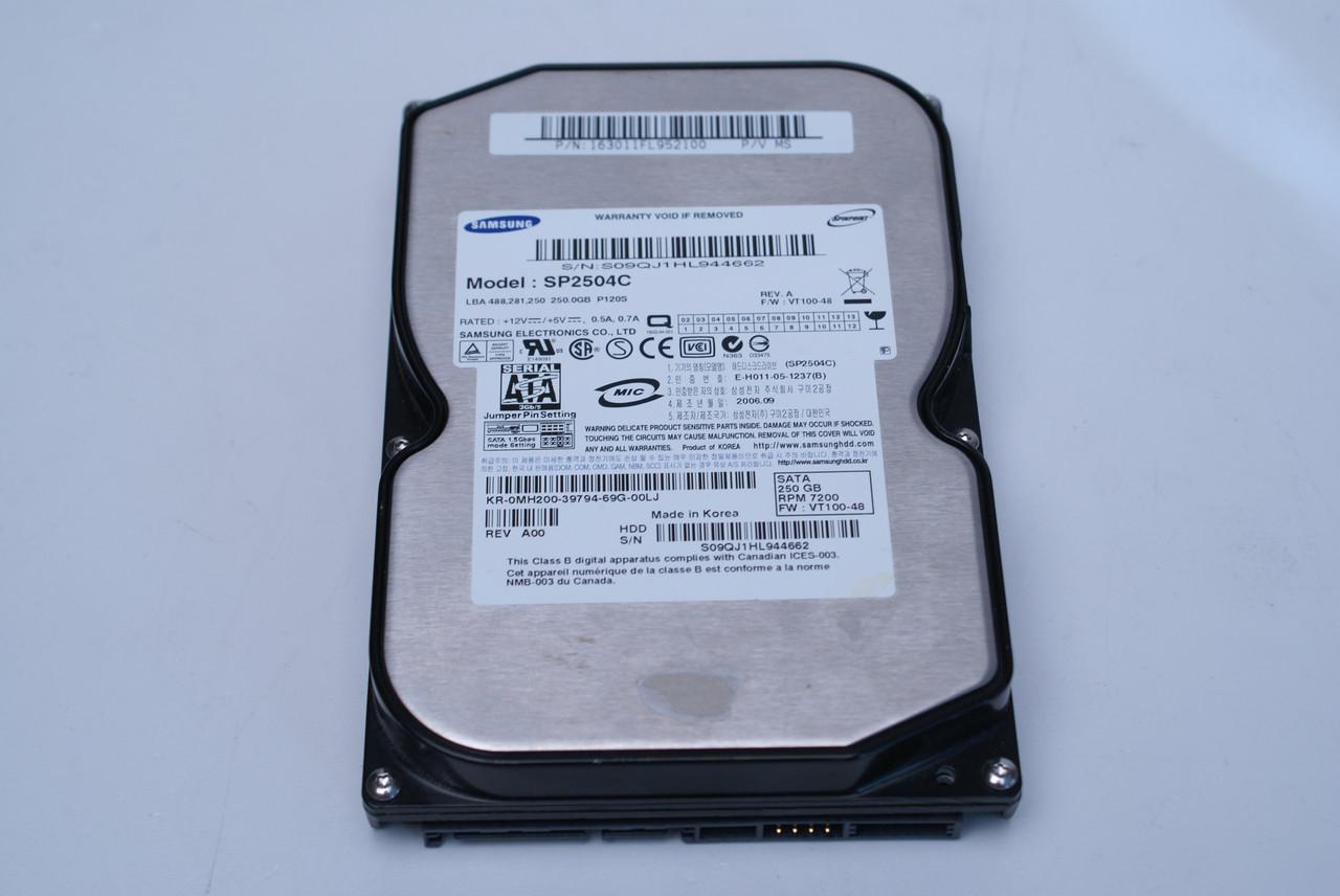 """Жесткий диск HDD на 250 Gb SATA 3.5"""" SP2504C ДЛЯ стационарного ПК ( 250Gb sata2 3.5 """") Б/У но ИДЕАЛ cГАРАНТИЕЙ"""