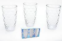 Разноцветные стаканы,прозрачные, круги, набор 6 шт
