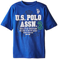 Футболка U.S. Polo Assn. синяя с логотипом