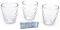 Разноцветные стаканы средние,прозрачные, круги, набор 6 шт