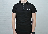 9428da16c4408 Только размер S !!! Футболка мужская поло В стиле Nike хлопок черная, вышит