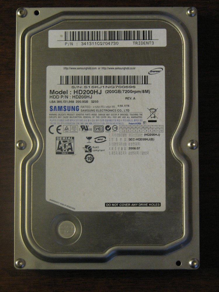 "Жесткий диск HDD на 200 Gb SATA 3.5"" SAMSUNG ДЛЯ стационарного ПК ( 200Gb sata2 3.5 "") Б/У но ИДЕАЛ cГАРАНТИЕЙ"