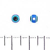 Фурнитура  бусина Хамса, цветное стекло d-5mm
