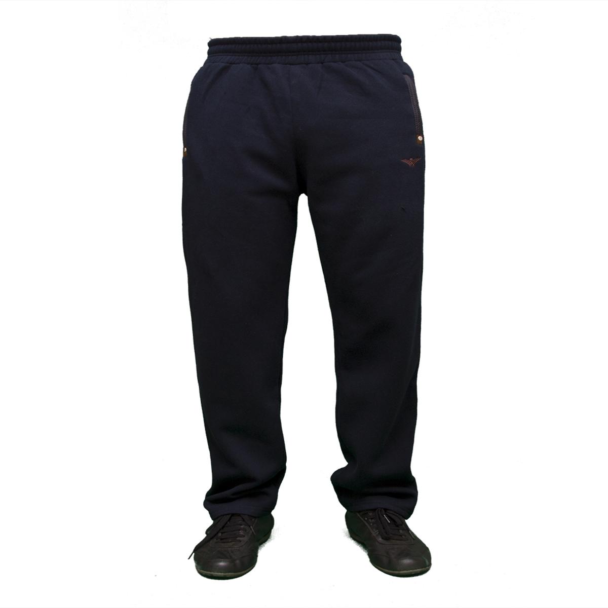 Теплые мужские батальные брюки байка пр-во Турция оптом недорого 0649G Dark Blue