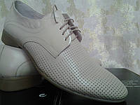 Летние бежевые туфли на шнурках Faro СКИДКА!, фото 1