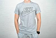 Футболка мужская  Nike хлопок серая / найк