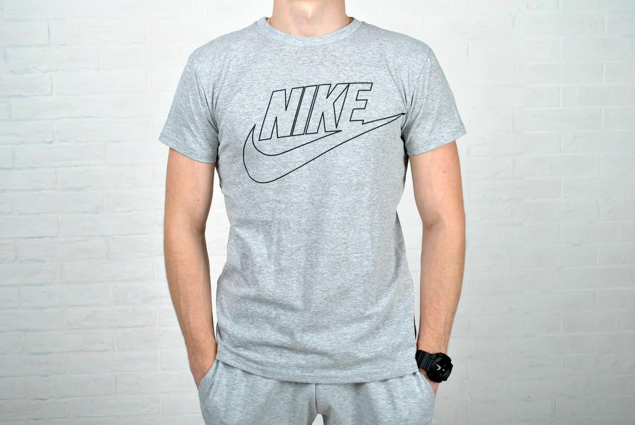 71511a4c434a8 Только размер S !!! Футболка мужская В стиле Nike хлопок серая / найк, цена  190 грн., купить в Киеве — Prom.ua (ID#386154105)