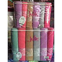 Банное махровое полотенце Грек яркий Турция Джулия 6 шт в уп. Размер 1.4х70 Хлопок