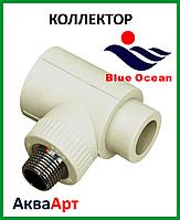 Коллектор наборной из PPR 40х1/2Нх1 с латунной вставкой BLUE OCEAN
