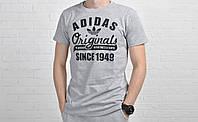Футболка мужская Adidas Original хлопок серая / адидас