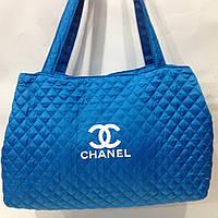 Женские сумки-дутики оптом Шанель из текстиля,цвет
