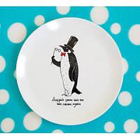 Тарелка Пингвин на Подарок