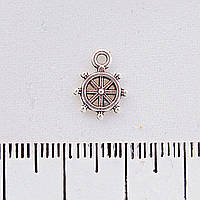 Фурнитура подвеска Штурвал,12мм, цвет металла серебро
