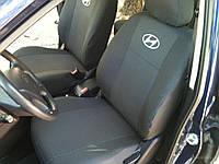 Чехлы на сидения Hyundai Accent 2017+ г.в. деленая спинка Хюндай Акцент
