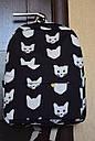 Рюкзак городской Котики черный, фото 5