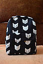 Рюкзак городской Котики черный, фото 2