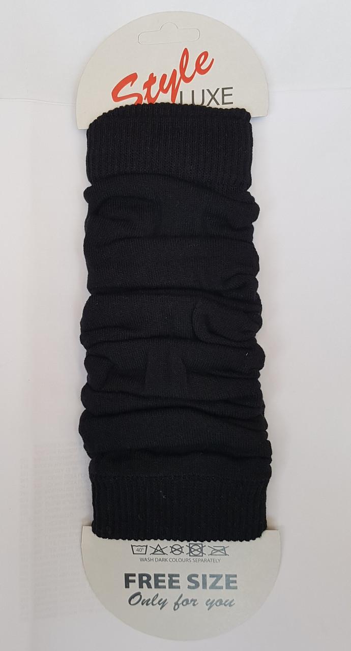 Гетры женские черного цвета упаковка 6 шт
