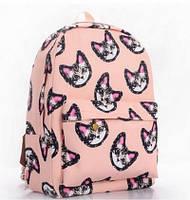Рюкзак городской Котики розовый, фото 1