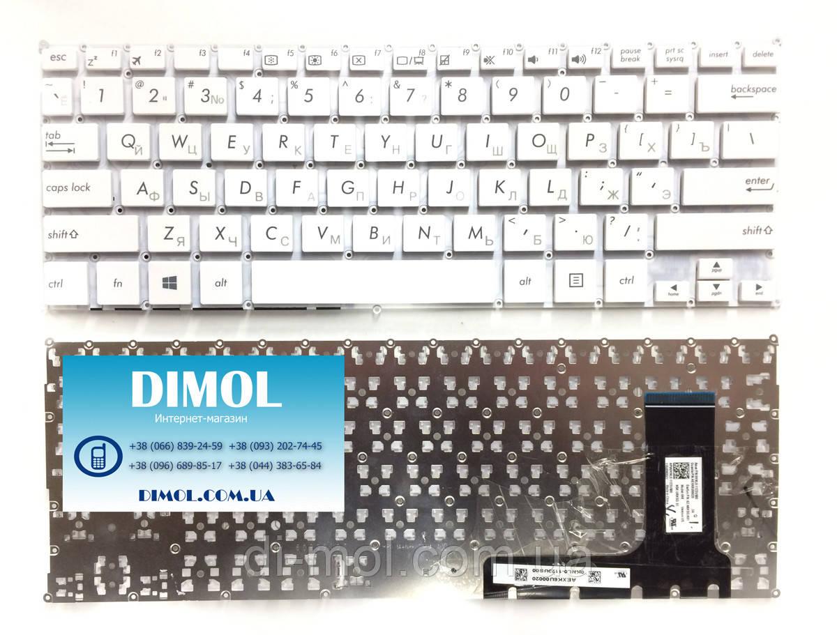 Оригинальная клавиатура для ноутбука Asus EeeBook X205 series, rus, white