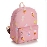 Рюкзак городской Мороженное розовый, фото 1