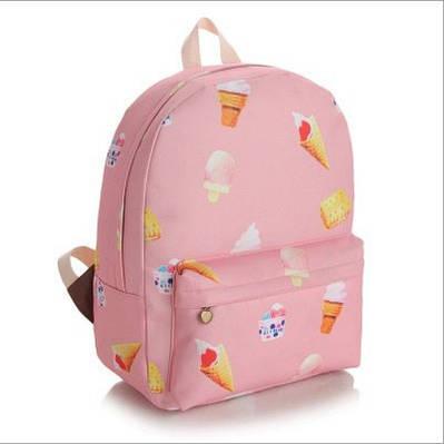 Рюкзак городской Мороженное розовый