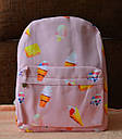 Рюкзак городской Мороженное розовый, фото 4