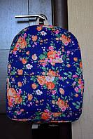 Рюкзак городской Цветы синий, фото 1