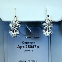 Серебряные серьги Цветы Нарцисса 25047р, фото 1