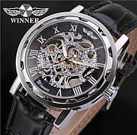 Мужские часы Winner (Кожаный ремешок) Гарантия!