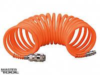 Шланг спиральный 5,5*8 мм  5 м, полиэтиленовый Mastertool 81-8494