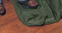 Полуторный надувной матрас 66928 зеленый (встроен.механ.ножной насос),137*191*22см