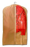 Чехол\кофр для одежды  60*100 см (бежевый)