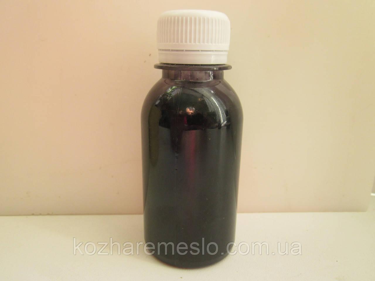 Аппретура для шкіри на водній основі 200 мл чорна сильний глянець