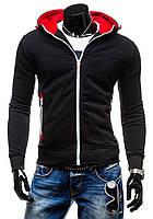 Теплая мужская толстовка с капюшоном, трехнитка с начесом, теплая, зима, демисезонная, еврозима S M L XL