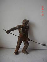 Фигурка сталевар бронза соцреализм