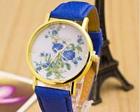 Женские часы с ремешком синего цвета Geneva (92)