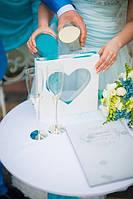 Рамка и цветной песок (на выбор 2 цвета) для свадебной песочной церемонии.