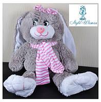 Мягкая игрушка заяц с шарфиком