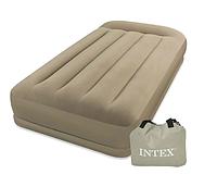 Односпальная надувная кровать 67742 со встроенным насосом 220В, 102-203-38см