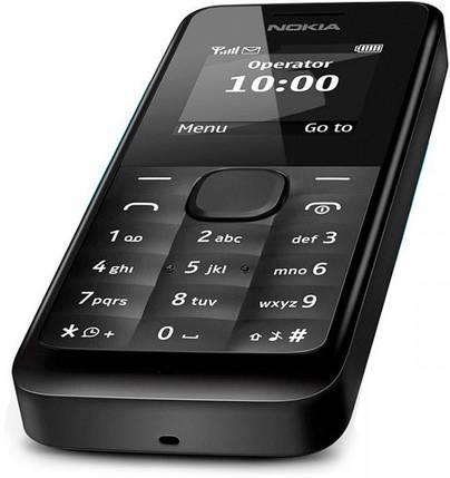 Мобильный телефон Nokia 105 Dual Sim Black, фото 2