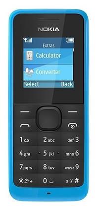Мобильный телефон Nokia 105 DualSim Cyan, фото 2
