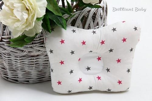 Подушка ортопедическая для новорожденных со звездочками