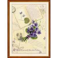 Набор для вышивания Риолис РТ-0039 Письма о любви. Фиалки