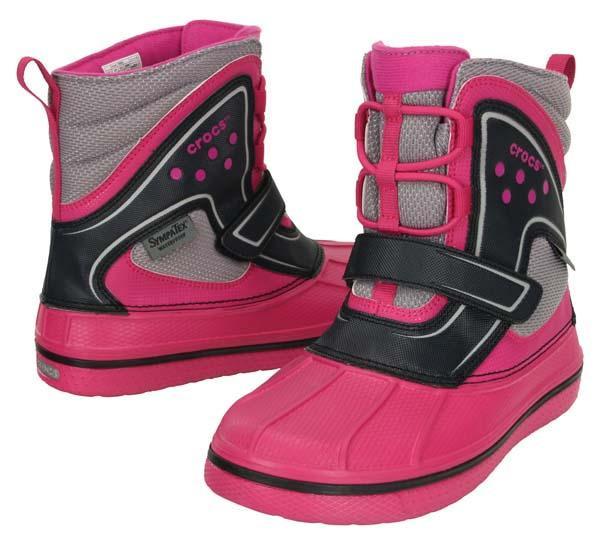 Ботинки зимние для девочки Crocs Kids AllCast Waterproof Boot GS / сапоги непромокаемые с мембраной
