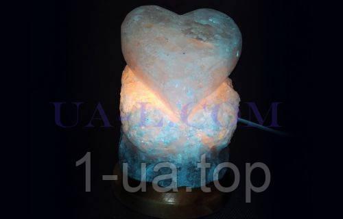 Соляная лампа Сердце-валентинка 1-2кг