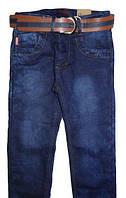 Стильные джинсы на поясе резинке, флис, для мальчика Grace (р.134)