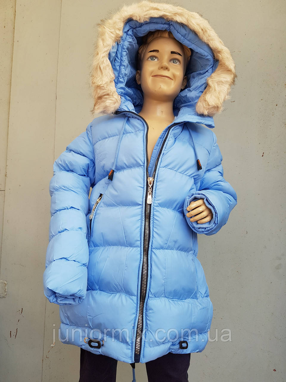 0439602b2561 Куртка зимняя на девочку подросток HIKIS с колокольчиками