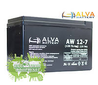 Аккумуляторная батаря  ALVA battery AW12-7 AGM (12 В 7 А\ч)